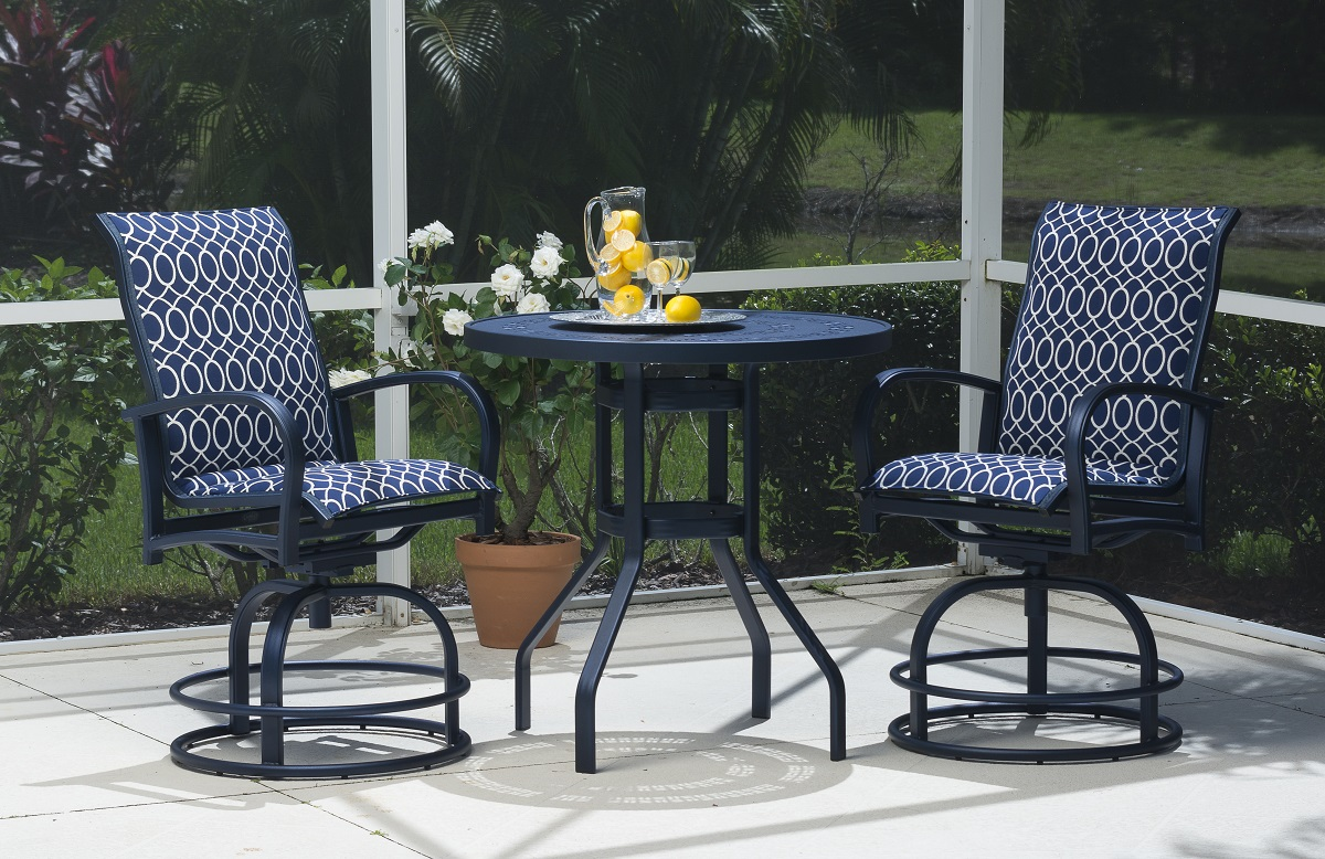 Delray sling or comfort sling balcony and bar sets antonellis furniture melbourne fl patio furniture brevard and indian river county