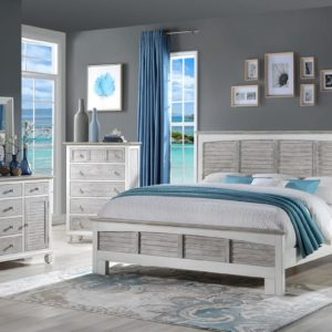 Islamorada Bedroom Collection In Two Tone Grey And White 300x300